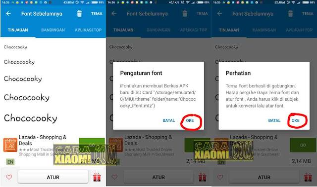 Cara Termudah Ganti Font di Semua Xiaomi MIUI 8 yang belum ROOT