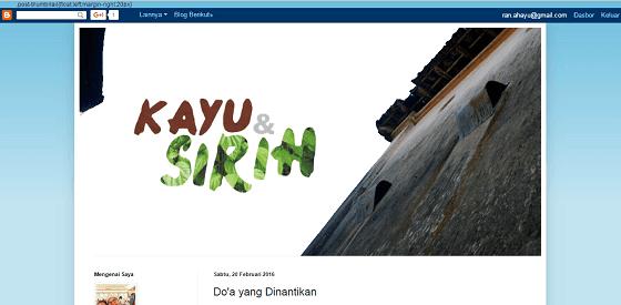Arinta Adiningtyas : Sosok di Balik Kayu dan Sirih