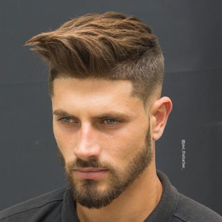 Faux Hawk Fade haircut for Men
