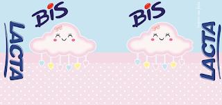 Etiquetas de Lluvia de Bendiciones en Rosa y Celeste para imprimir gratis.