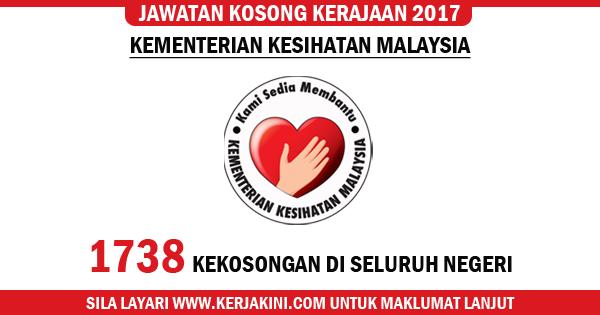 jawatan kosong terkini kementerian kesihatan malaysia kkm