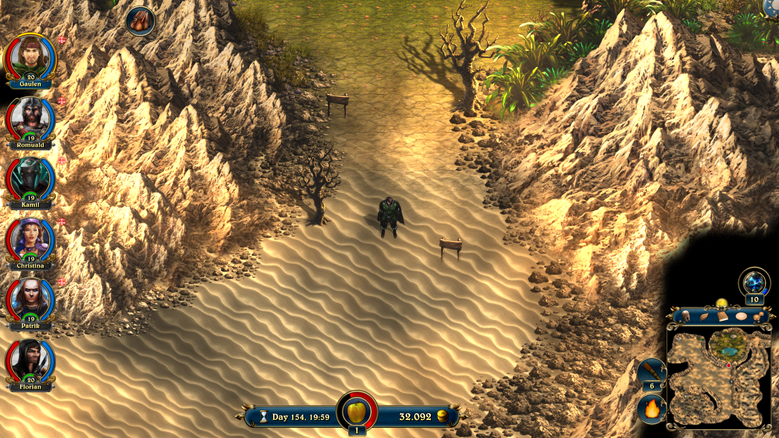 Desert area in Lords of Xulima.