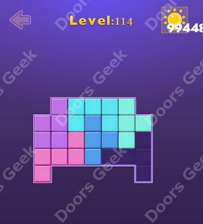 Cheats, Solutions, Walkthrough for Move Blocks Easy Level 114