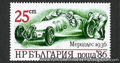 Mercedes 1936 Stamp