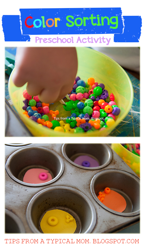 Color Sorting Preschool Activity- Fine Motor Skills - Tips ...