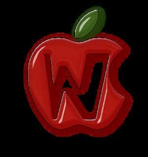 Abecedario en Manzanas. Alphabet in Apples.
