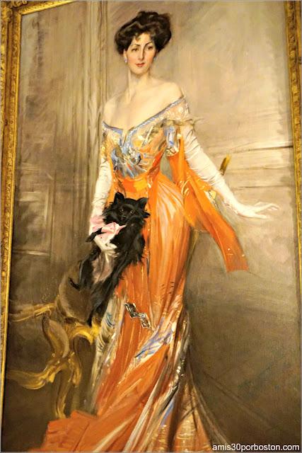 Cuadro de Elizabeth Drexel Dahlgren Lehr en el Salón de Baile de la Mansión The Elms en Newport