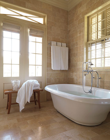 Here They Chose To Place A Double Bar Up Quite High I Think Might Have Opted In This Bathroom It Lower Or Freestanding Unit