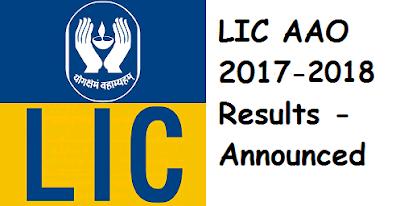 LIC AAO Results 2017 - 2018 & Cutoff Marks - Declared