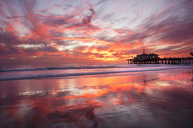 2. Santa Monica Pier, California - 20 of The Best Places To Watch The Sunset