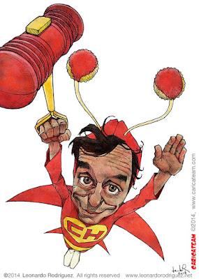 caricatura de Chespirito