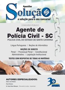 Apostilas PC-SC 2017 Agente de Polícia Civil
