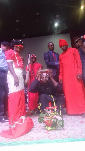 Photos: Key Niger Delta Avengers Commander and his fighters surrender arms as Gov. Okorocha assures of amnesty