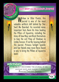 My Little Pony Star Swirl the Bearded's Journal Series 5 Trading Card