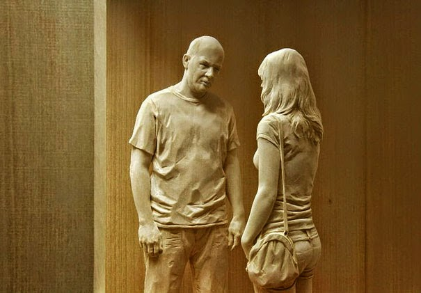 hand-carved sculptures