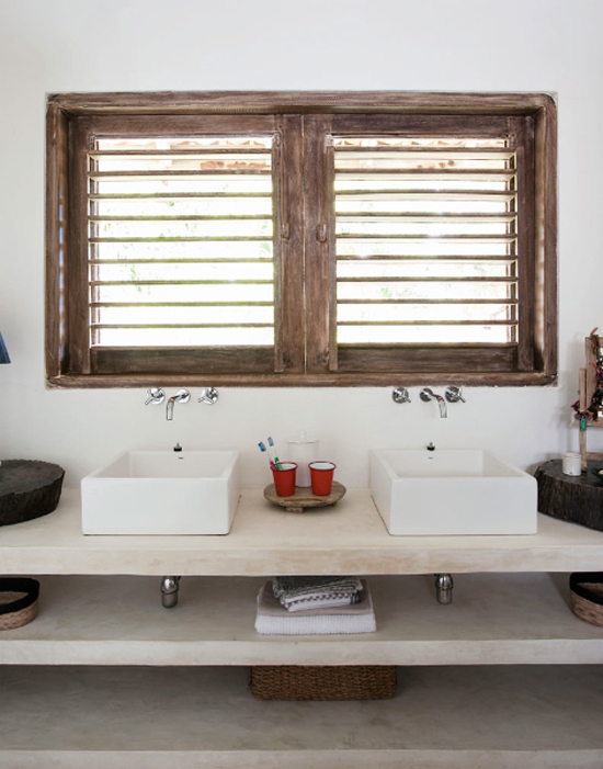 A sleek and modern ethnic home in Brazil. See more at www.myparadissi.com