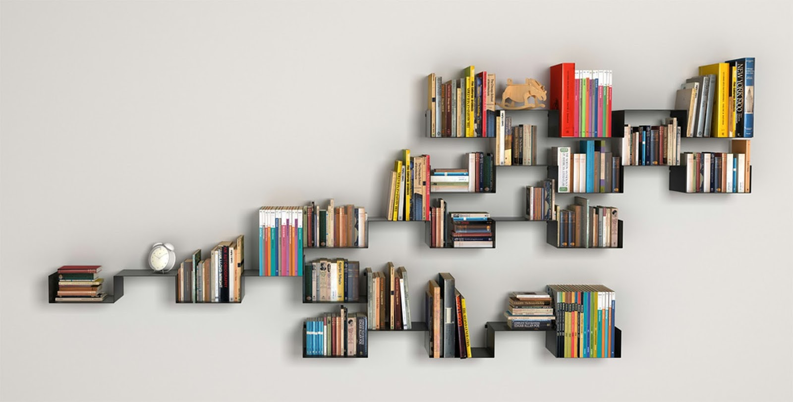 The Invisible Bookshelves ! Home Decor