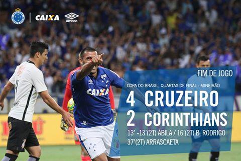 Em Jogo Epico Cruzeiro Elimina O Corinthians E Esta Na Semifinal Contra Gremio