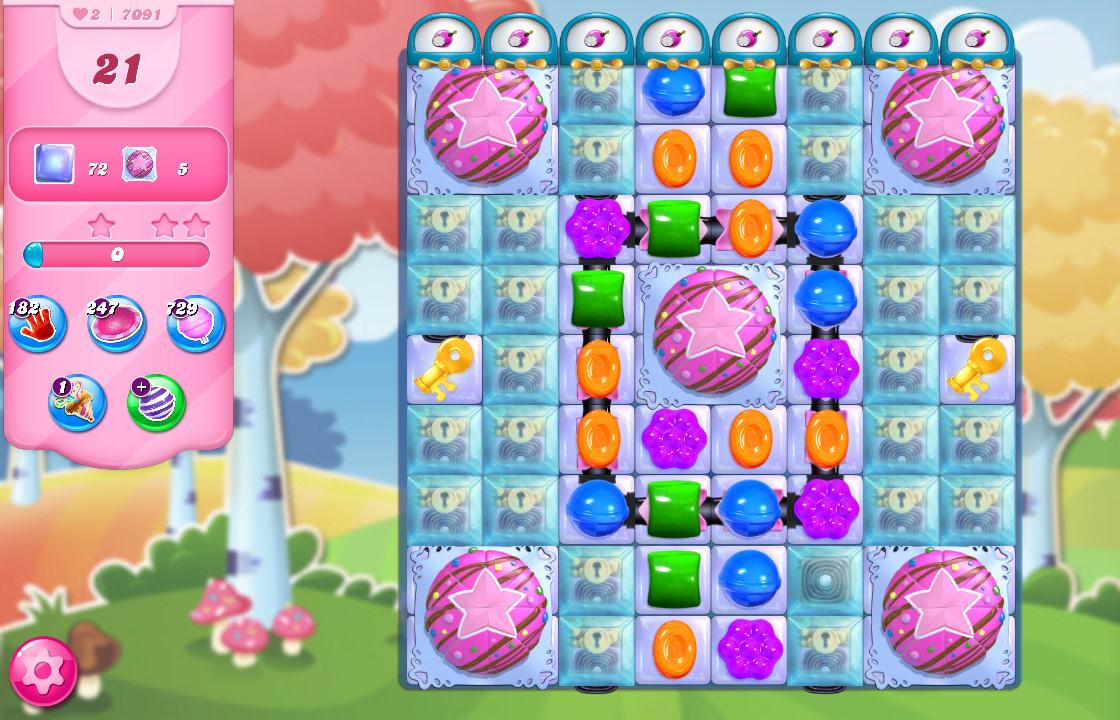 Candy Crush Saga level 7091