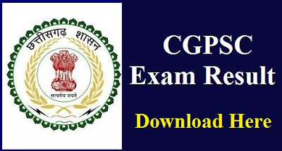 CGPSC PRE RESULT