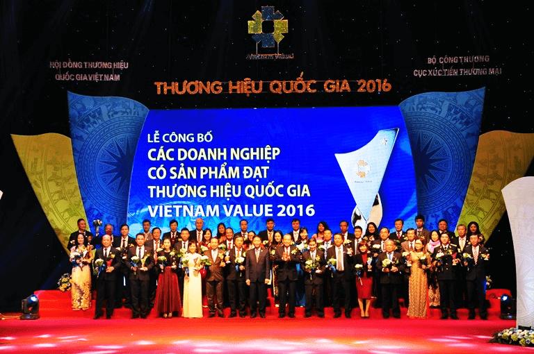PSA đạt thương hiệu Quốc gia năm 2016