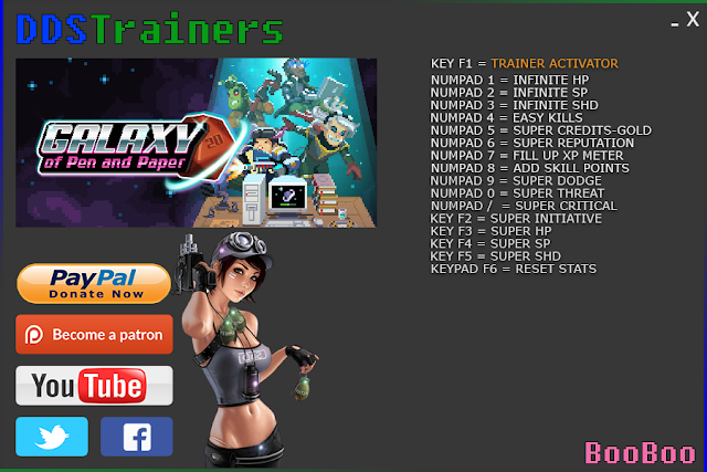 Galaxy Of Pen And Paper Trainers and Cheats for PC