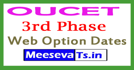 OUCET 3rd Phase Web Option Dates 2018