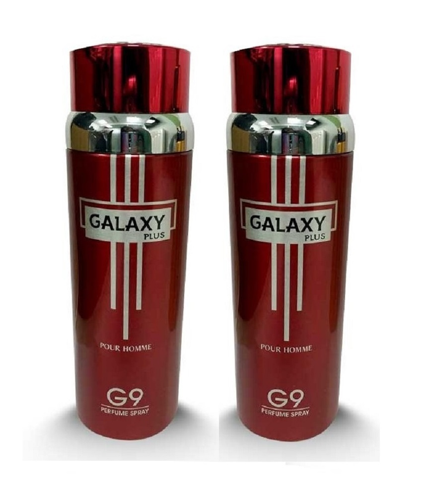 Pack Of 2 - Galaxy Plus G 9 Pour Homme Body Spray 200 ml Each