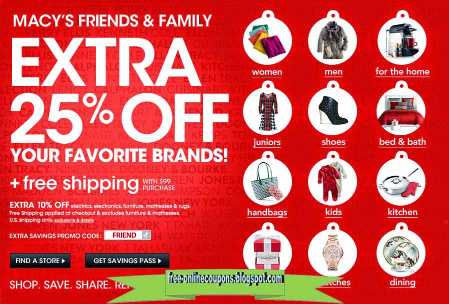 Macys online shopping promo code