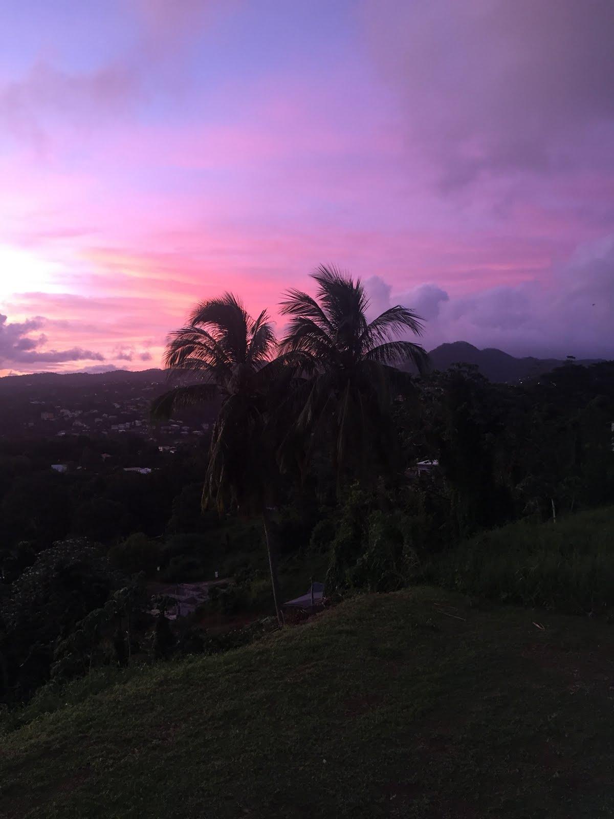 sublime coucher de soleil sur la villa victoria