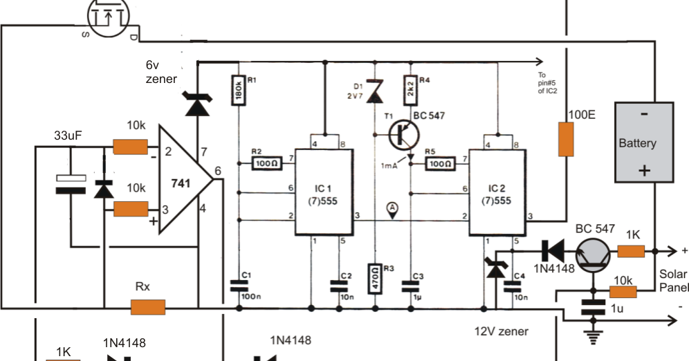 solar panel optimizer circuit electronic circuit projects