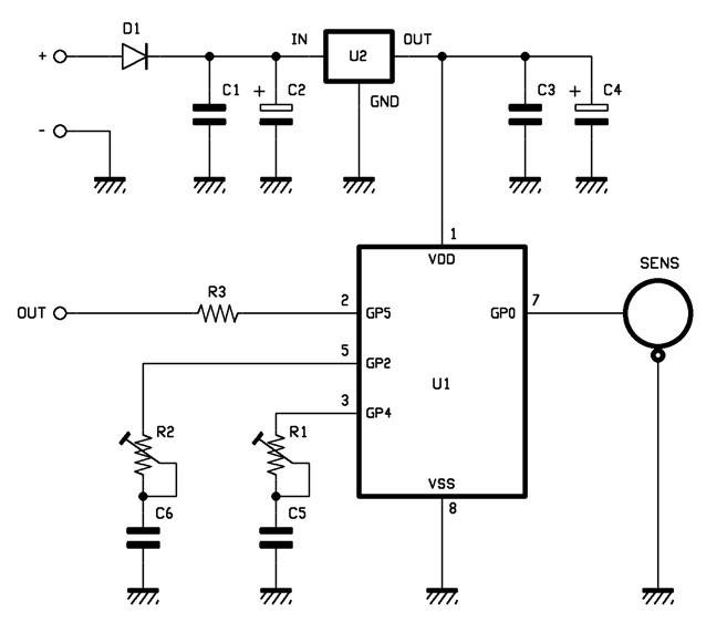 un d tecteur de mouvement avec capteur au gaz de mercure schema electronique net. Black Bedroom Furniture Sets. Home Design Ideas