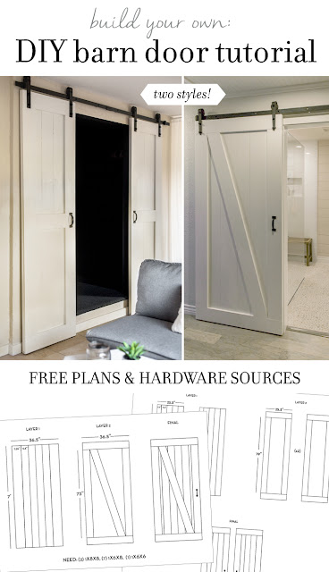 DIY barn door designs