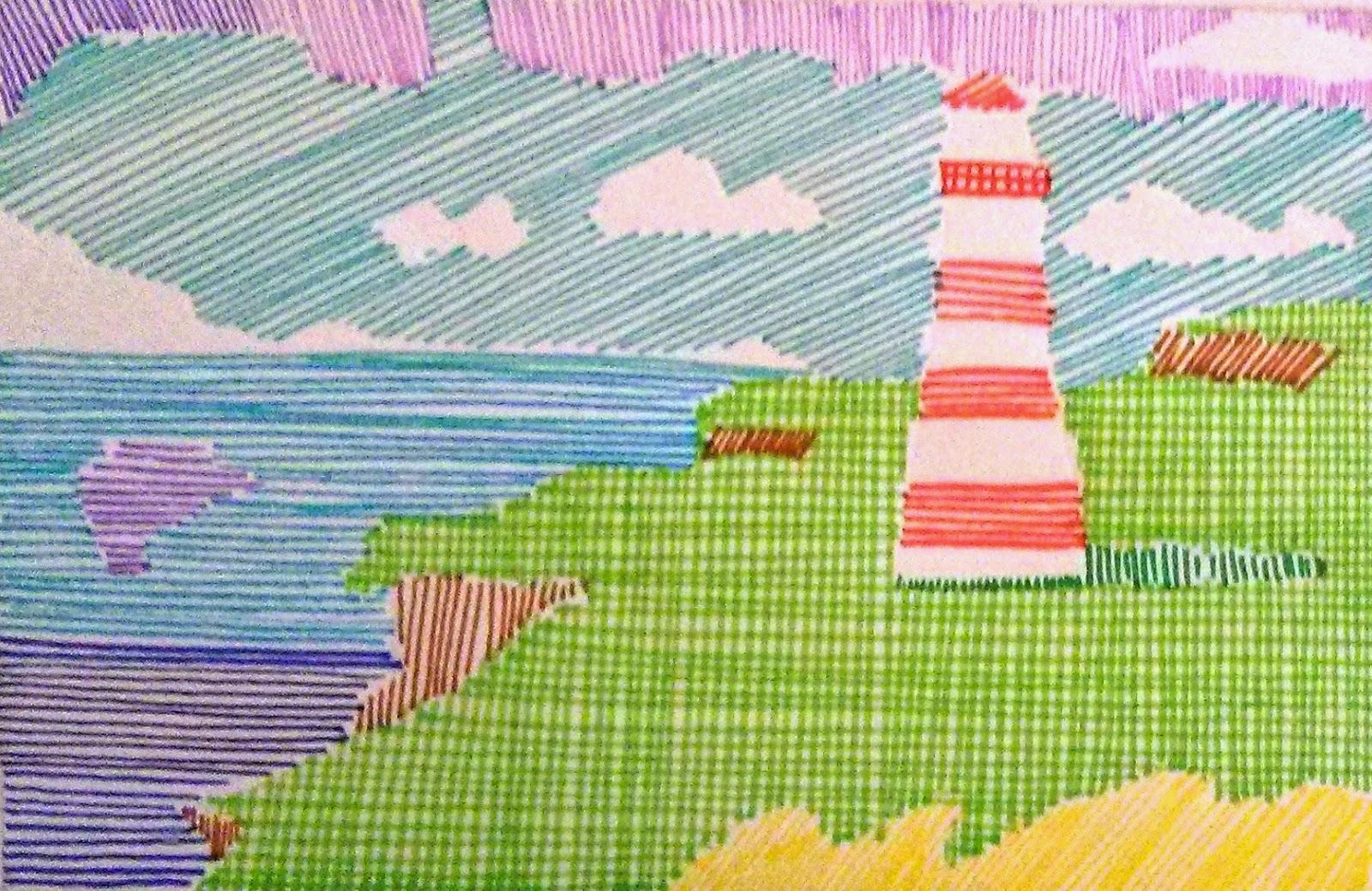 Dibujo De Lineas Paisaje: ¡El Arte Corre... Por Nuestras Venas!: NOELIA GARCÍA RODRÍGUEZ