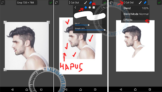 Edit Foto Membuat Efek Siluet di PicSay Android