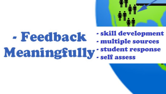 4 steps to Feedback Meaningfully #CBL