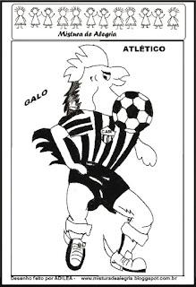 Desenho galo mascote do atlético