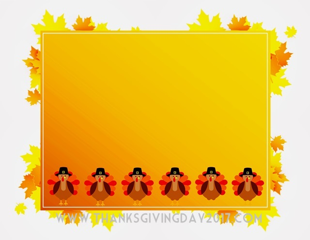 Happy Thanksgiving Border 2017 Happy Thanksgiving Day 2017