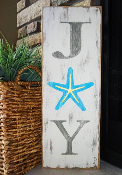 Starfish Christmas Joy Sign