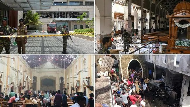 158 ​​killed, 400 injured in a Church Blast at Sri Lanka