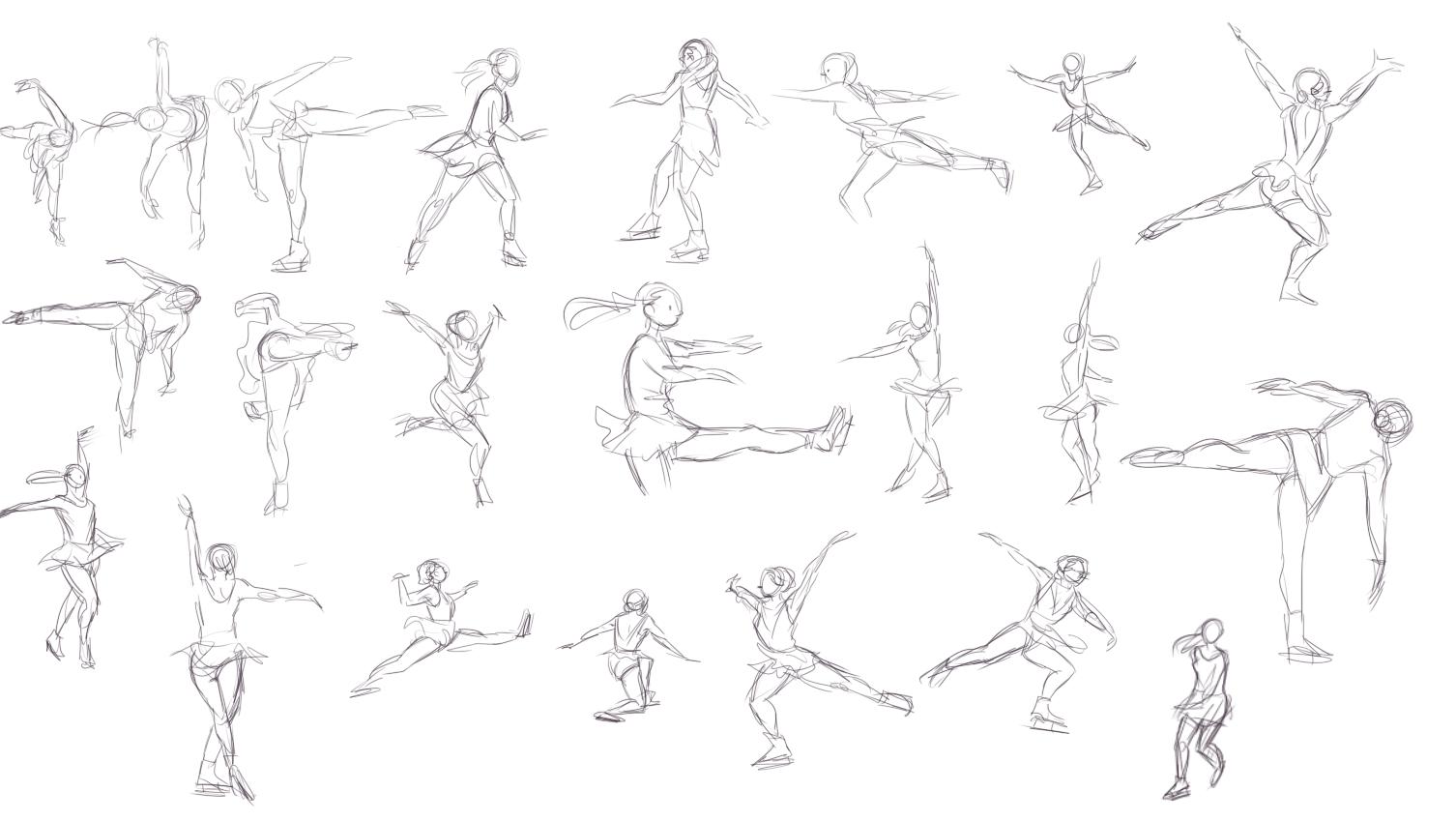 Kowal: January 2014  |Drawing Ice Skater