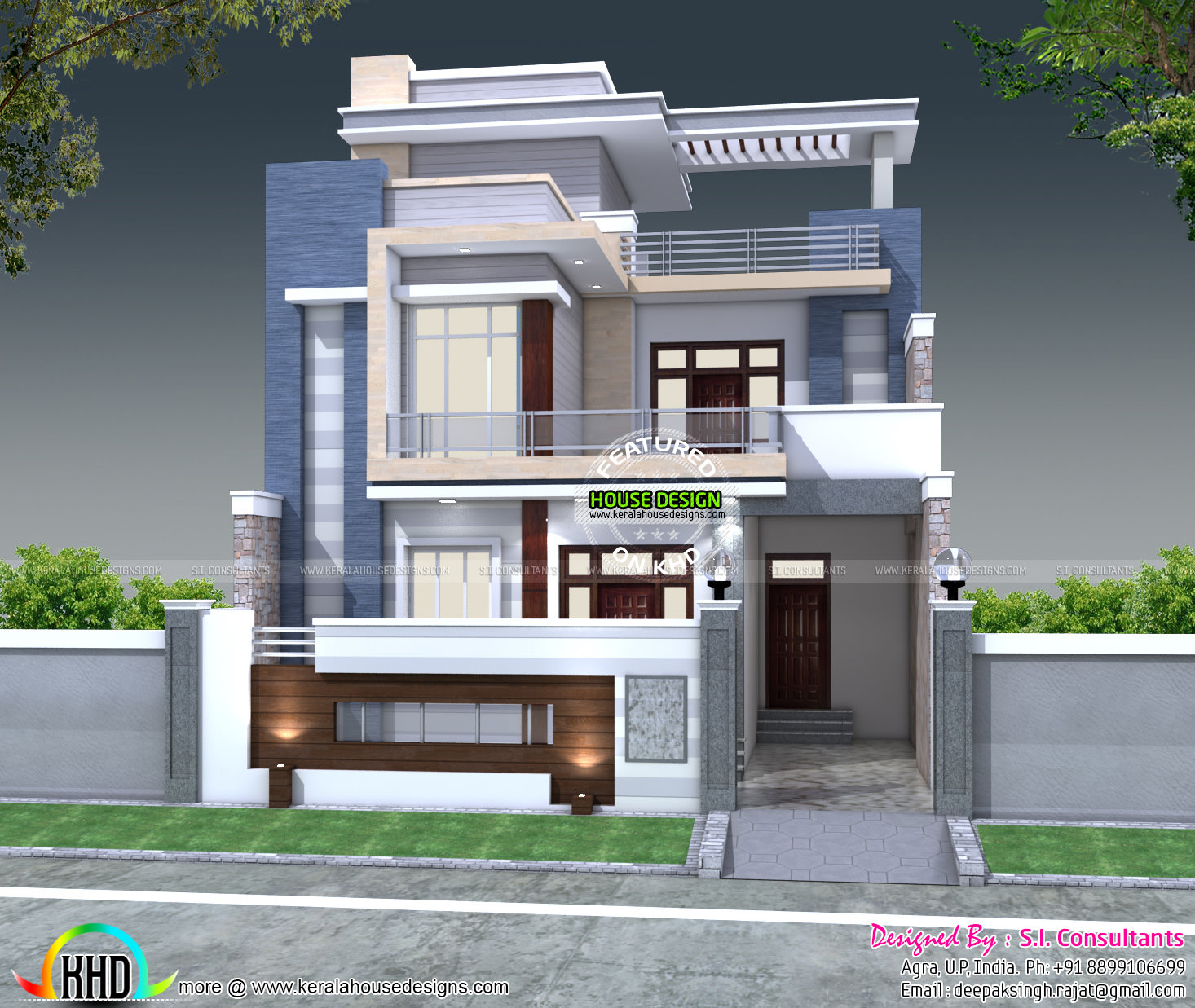 5 bedroom 30x60 house plan architecture kerala home for 1000 sq ft house front elevation
