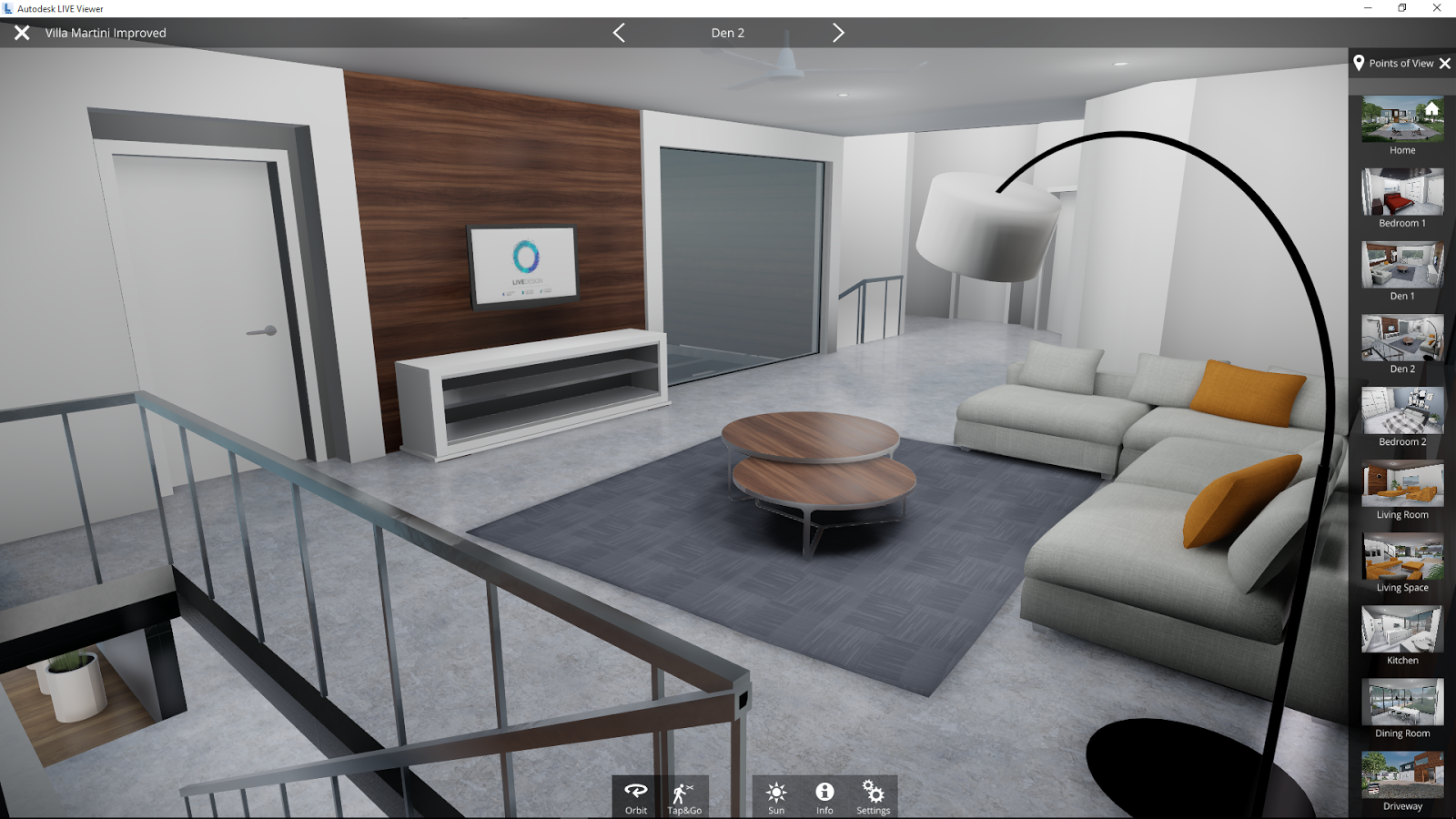 Revit add ons autodesk live viewer step inside your design for Autodesk online home design