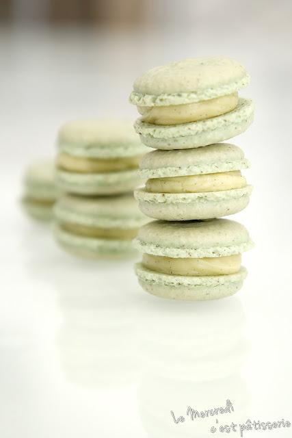 Macarons huile d'olive et vanille de Pierre Hermé