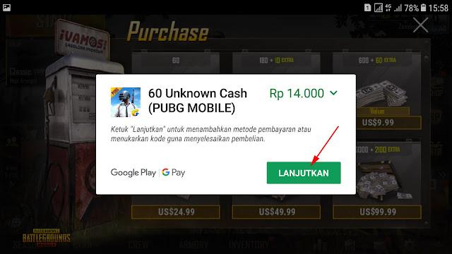 Cara Top-up Cash UC PUBG Mobile Dengan Pulsa 22