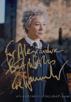 Zoe Wanamaker Autograf Autograph Harry Potter