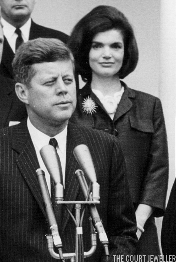Kennedy Wears The Brooch During A White House Press Conference 9 April 1962 National Archive Newsmakers