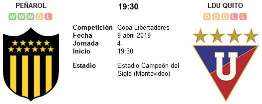 Peñarol vs Liga de Quito en VIVO