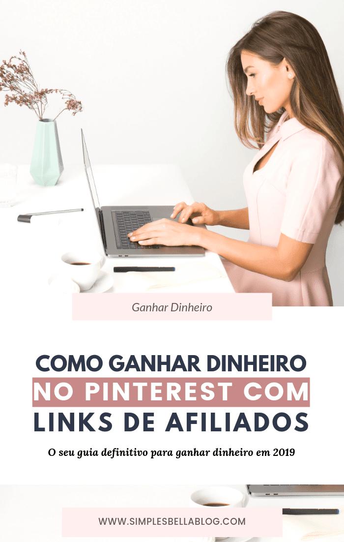 Como ganhar dinheiro no Pinterest com links de afiliados