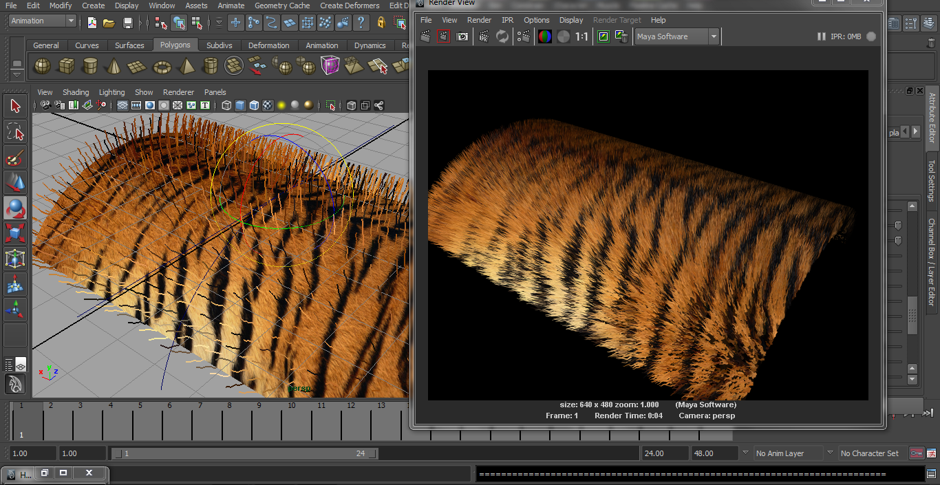 Tiger Fur in Autodesk Maya | CG TUTORIAL